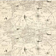 Air Traffic Premier in Natural Home Decor Cotton Fabric Fabric Traders