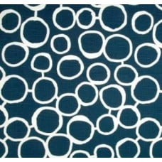Scribble Freehand in Navy Home Decor Cotton Fabric Fabric Traders