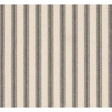 Ticking Stripe Traditional Cotton Fabric Natural Charcoal Ivory Fabric Traders