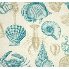 Solarium Outdoor Sealife Turquoise Fabric Traders