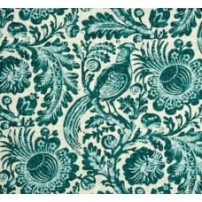 Tuckers Daughter Resist Teal Linen Blend Fabric Fabric Traders