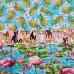 FABRIC STACK - Craft, Quilting And Apparel Cotton Fabrics 45cm in Pets and Flamingo  Fabric Traders