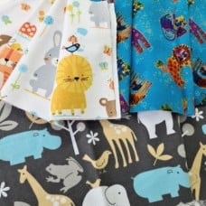 FABRIC STACK - Craft, Quilting And Apparel Cotton Fabrics 55cm in Flannels