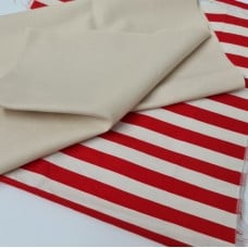 FABRIC STACK - Craft, Quilting And Apparel Cotton Fabrics 45cm in Novelty Stripe  Fabric Traders