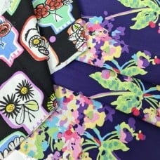 FABRIC STACK - Craft, Quilting And Apparel Cotton Fabrics 45cm in Bold Prints