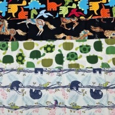 FABRIC STACK - Craft, Quilting And Apparel Cotton Fabrics 45cm in Novelty Fun