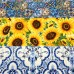 FABRIC STACK - Craft, Quilting And Apparel Cotton Fabrics 45cm in Sunflowers  Fabric Traders