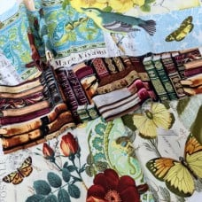 FABRIC STACK - Craft, Quilting And Apparel Cotton Fabrics 45cm in Collage  Fabric Traders
