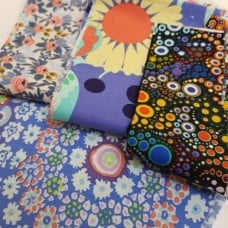 FABRIC STACK - Craft, Quilting And Apparel Cotton Fabrics 40cm in Flowers  Fabric Traders