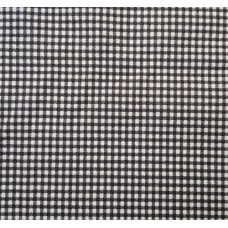 Check Home Decor Cotton Fabric Black and Ivory