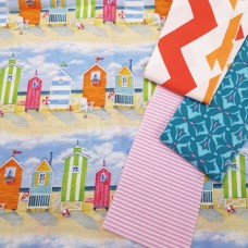 FABRIC STACK - Craft, Quilting And Apparel Cotton Fabrics 45cm Coastal
