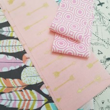 FABRIC STACK - Craft, Quilting And Apparel Cotton Fabrics 45cm Pink Accents