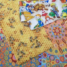 FABRIC STACK - Craft, Quilting And Apparel Cotton Fabrics 45cm Golden Accents