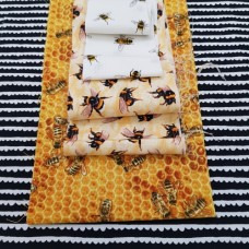 FABRIC STACK - Craft, Quilting And Apparel Cotton Fabrics 45cm Bees Please