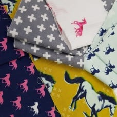 FABRIC STACK - Craft, Quilting And Apparel Cotton Fabrics 45cm Horses