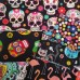 FABRIC STACK - Craft, Quilting And Apparel Cotton Fabrics 50cm on Black Fabric Traders