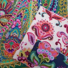 FABRIC STACK - Craft, Quilting And Apparel Cotton Fabrics 50cm in Flowers