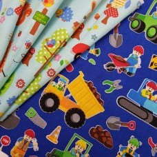 FABRIC STACK - Craft, Quilting And Apparel Cotton Fabrics 45cm in Kids Designs