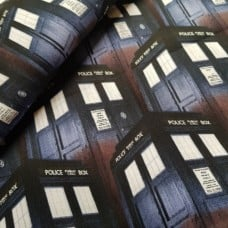 Dr Who Tardis Cotton Fabric Fabric Traders