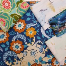 FABRIC STACK - Craft, Quilting And Apparel Cotton Fabrics 50cm by the Sea