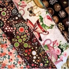 GRAB BAG - Cotton Quilting And Apparel Fabrics 50cm in High Tea
