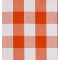 Gingham Orange in 25mm Check Cotton Fabric Fabric Traders