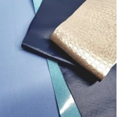 Vinyl Fabric Craft Pack of Strips in Blue and Gold Fabric Traders