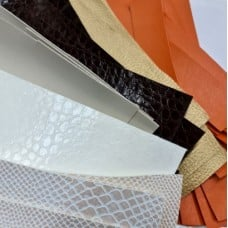 Vinyl Fabric Craft Strips in Textured Finishes 20cm x 40cm