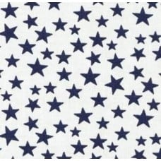 Stars Navy and White Cotton Fabric