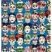 Folk Lorico Gotas de Amor Royal Cotton Fabric by Alexander Henry Fabric Traders