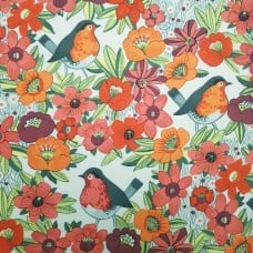 Birdland Tea Tint Cotton Fabric by Alexander Henry