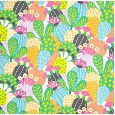 Folk Lorico Desert Blooms in Pastel Cotton Fabric by Alexander Henry