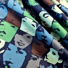 Nicole's Prints In Crowd Blue Tonal Cotton Fabric by Alexander Henry