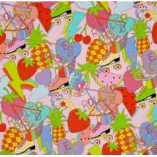 Roller Disco Cotton Fabric by Alexander Henry Fabric Traders