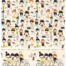 Monkeys Bizness Bicycle Built for 4 Cotton Fabric by Alexander Henry Fabric Traders