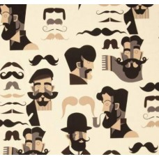 Nicole s Prints Mr Stache Fabric by Alexander Henry Fabric Traders
