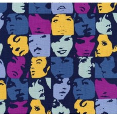 Nicole's Prints In Crowd Blueberry Cotton Fabric by Alexander Henry