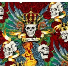Royal Bright Skull Duggery Cotton Fabric by Alexander Henry Fabric Traders