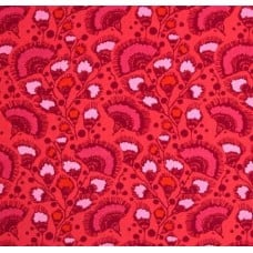 Feather Fans Cotton Fabric by Amy Butler in Red Fabric Traders