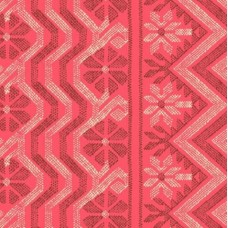 Bright Heart Cosmo Weave in Papaya Cotton Fabric by Amy Butler Fabric Traders
