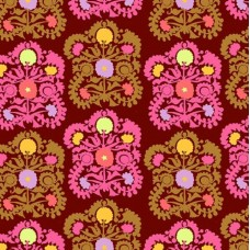Gypsy Embroidery in Plum Cotton Fabric Amy Butler Fabric Traders