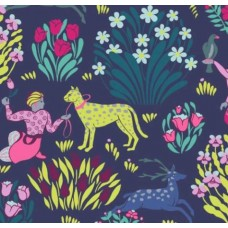 Forest Friends in Midnight Cotton Fabric by Amy Butler