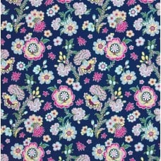 Midnight Bloom in Indigo Cotton Fabric by Amy Butler