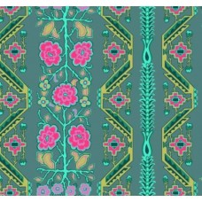 Native Folk in Sage Cotton Fabric by Amy Butler