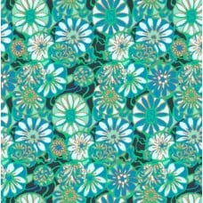 Daisy Shine in Green Cotton Fabric by Amy Butler Fabric Traders