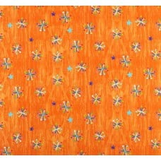 Very Hungry Caterpillar Bright Asterisk Cotton Fabric in Orange  Fabric Traders