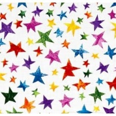 Very Hungry Caterpillar Stars Cotton Fabric