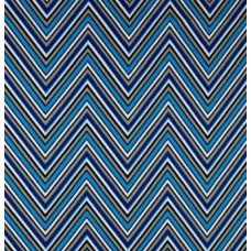 Chevron Stripe in Blue Cotton Home Decor Fabric