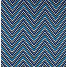 Chevron Stripe in Blue Cotton Home Decor Fabric Fabric Traders