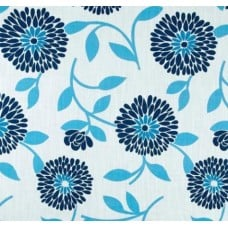 Floral Flutter in Blue Cotton Home Decor Fabric Fabric Traders